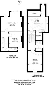 Large floorplan for Gosberton Road, Nightingale Triangle, SW12