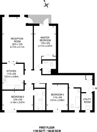 Large floorplan for Imperial Wharf, Fulham, SW6