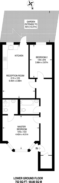 Large floorplan for Amhurst Road, Hackney, E8