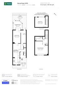 Large floorplan for Barset Road, Nunhead, SE15