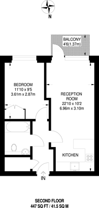 Large floorplan for Longfield Avenue, Ealing Broadway, W5