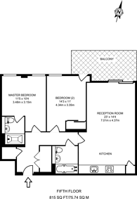 Large floorplan for Central Avenue, Fulham, SW6