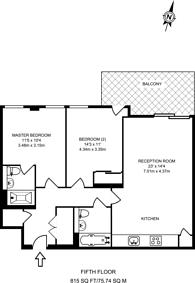Large floorplan for Central Avenue, Fulham, SW6
