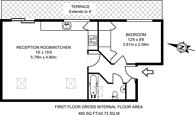 Large floorplan for Thornhill Road, Barnsbury, N1