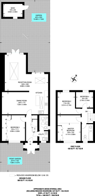 Large floorplan for Saxon Drive, West Acton, W3