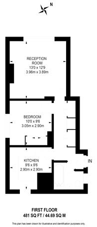 Large floorplan for Ebury Bridge Road, Cheylesmore House, Pimlico, SW1W