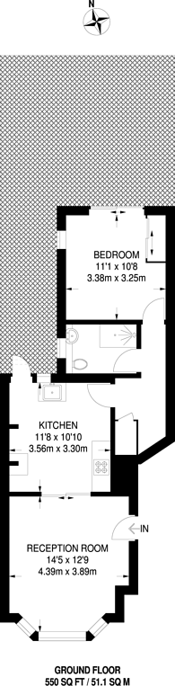 Large floorplan for Rosemont Avenue, North Finchley, N12