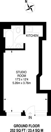 Large floorplan for Hornsey Road, Finsbury Park, N19