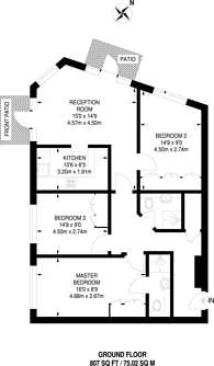 Large floorplan for Medway Street, Westminster, SW1P