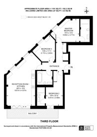Large floorplan for De Beauvoir Apartments, Dalston, N1
