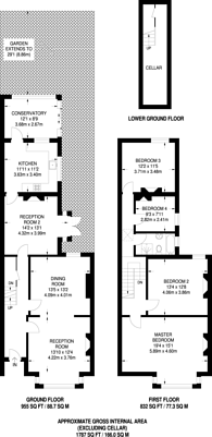Large floorplan for Wallwood Road, Leytonstone, E11