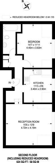 Large floorplan for Veronica Road, Heaver Estate, SW17