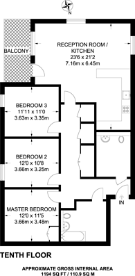 Large floorplan for East Ferry Road, Isle Of Dogs, E14