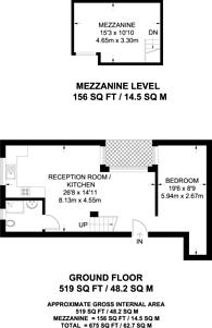 Large floorplan for St Rule Street, Battersea, SW8