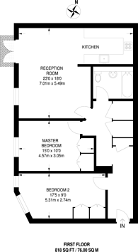 Large floorplan for Strype Street, City, E1