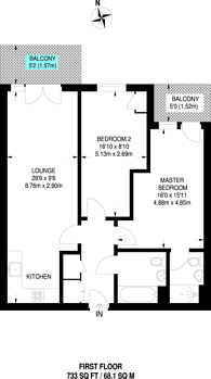 Large floorplan for Worcester Close, Anerley, SE20