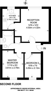 Large floorplan for Bernard Ashley Drive, Charlton, SE7