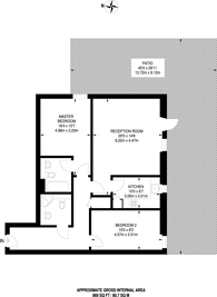 Large floorplan for City Walk, London Bridge, SE1