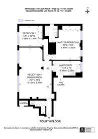 Large floorplan for Cottesmore Court, High Street Kensington, W8