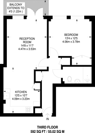 Large floorplan for Donnington Road, Willesden Green, NW10