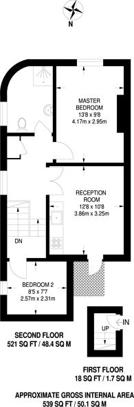 Large floorplan for Edgel Street, Wandsworth Town, SW18