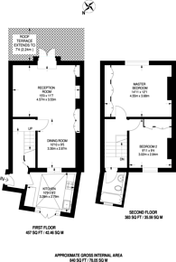Large floorplan for Old Brompton Road, South Kensington, SW7