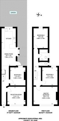 Large floorplan for Woodford Road, Forest Gate, E7