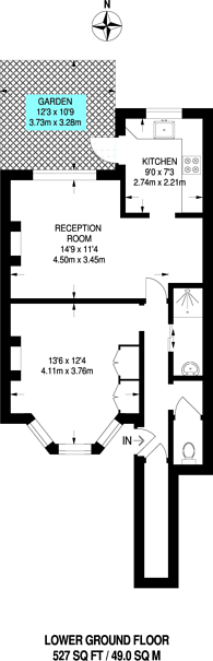 Large floorplan for Dunstans Road, East Dulwich, SE22