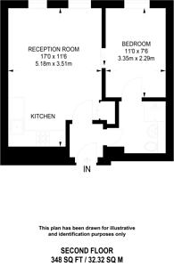Large floorplan for Cathedral Mansions, Westminster, SW1V