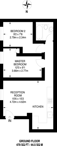 Large floorplan for South Park Road, Wimbledon, SW19
