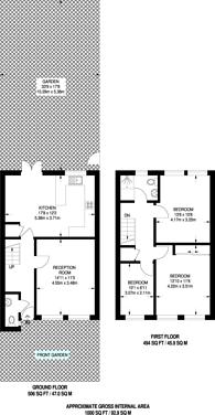 Large floorplan for Minnow Walk, Elephant and Castle, SE17