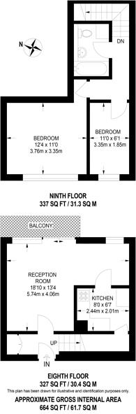 Large floorplan for Grange Vale, Sutton, SM2