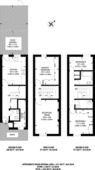 Large floorplan for Bletsoe Walk, Islington, N1