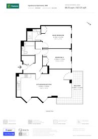 Large floorplan for Fulham Riverside, Sands End, SW6