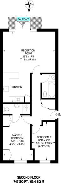 Large floorplan for Spitalfields, Spitalfields, E1