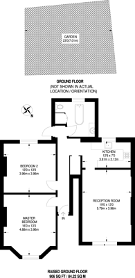 Large floorplan for Oakfield Road, Finsbury Park, N4