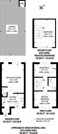 Large floorplan for Oakley Close, Beckton, E6