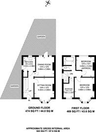Large floorplan for Sylvia Gardens, Wembley, HA9