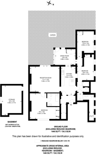 Large floorplan for Roxborough Park, Harrow on the Hill, HA1