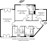 Large floorplan for Lowry Court, Corney Reach, W4