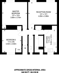 Large floorplan for Perry Vale, Forest Hill, SE23