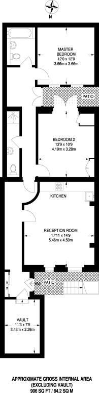 Large floorplan for Upper Berkeley Street, Marylebone, W1H