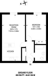 Large floorplan for Merchant Street, Bow, E3