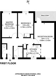 Large floorplan for Dora Street, Limehouse, E14