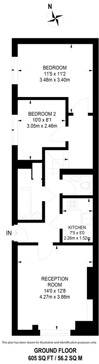 Large floorplan for North Gower Street, Euston, NW1