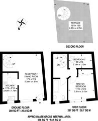 Large floorplan for Osten Mews, South Kensington, SW7