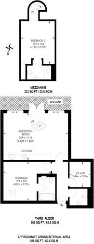 Large floorplan for Independents Road, Blackheath, SE3