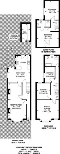 Large floorplan for Carnarvon Road, Barnet, EN5