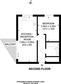 Large floorplan for High Road, Wembley, HA9