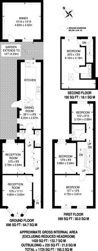 Large floorplan for Buckingham Road, Harlesden, NW10